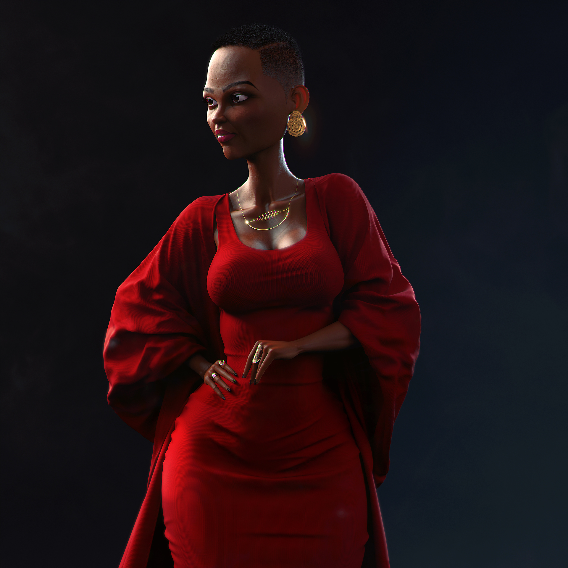 Grace - character modeling and design from photo - epic studios 3D design and 3D Animation Kenya